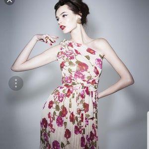 Alberta Ferretti for Impulse floral chiffon Dress